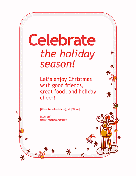Red-color Customizable Personal Holiday Party