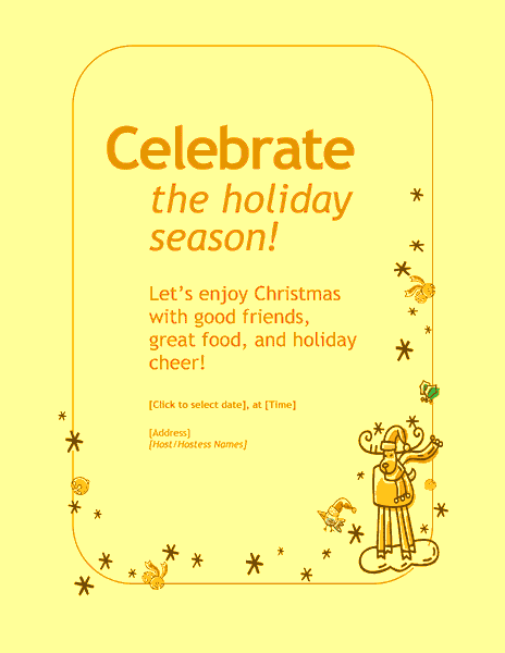 Yellow-color Customizable Personal Holiday Party