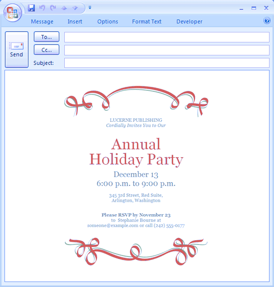 Download Message Free Printable Invitations for Microsoft Office – Professional Invitation Template