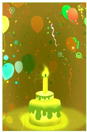 Green-color Invitation For Birthday Party