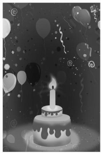 Grey-color Invitation For Birthday Party