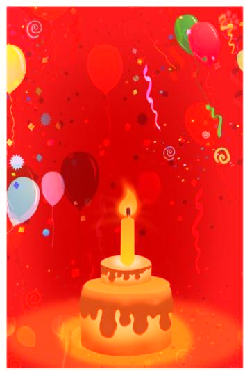 Red-color Invitation For Birthday Party