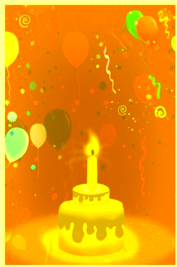 Yellow-color Invitation For Birthday Party