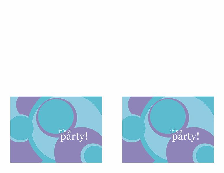 Blue-color Party Invitation