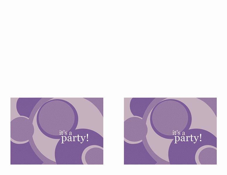 Grey-color Party Invitation