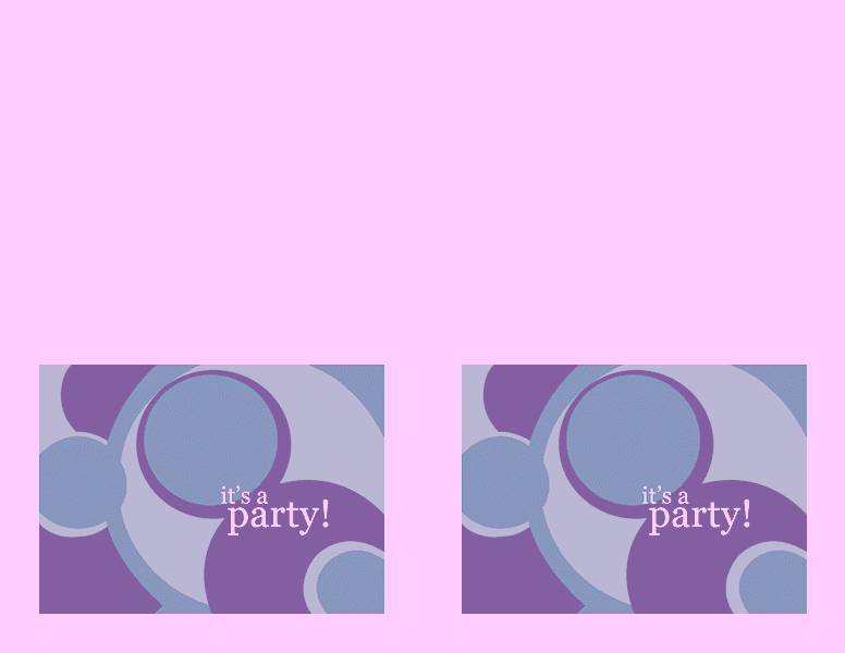 Purple-color Party Invitation