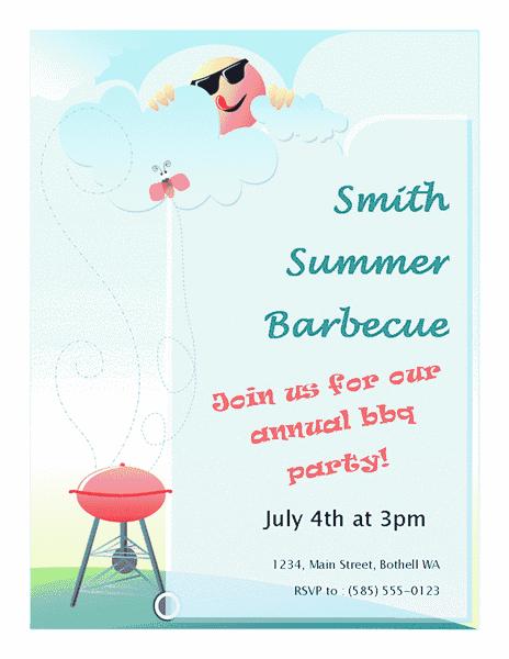 Blue-color Summer Barbeque Flyer