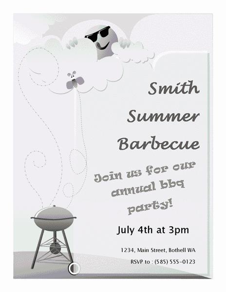 Grey-color Summer Barbeque Flyer