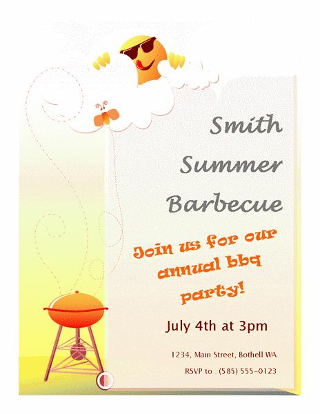 Red-color Summer Barbeque Flyer
