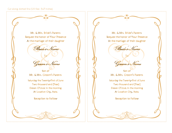 Heart Images For Wedding Invitations: Download Free Printable Invitations Of Wedding Invitation