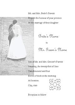 Blue-color Wedding Invitation (juliet Design, For Commercial Printing)