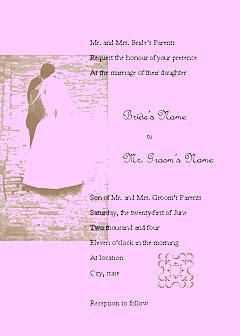 Purple-color Wedding Invitation (juliet Design, For Commercial Printing)