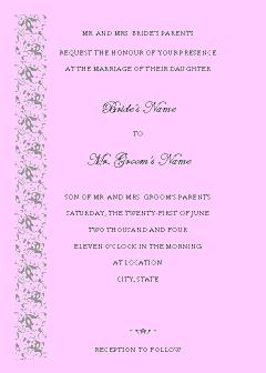 Purple-color Wedding Invitation (tapestry Design, Vertical Border, For Desktop Printing)