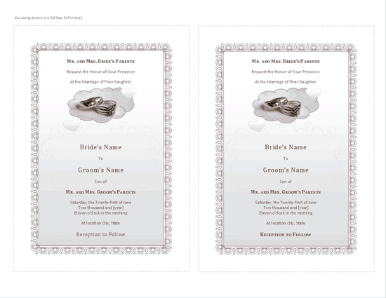 Download Grey-color Wedding Invitation (with Room For Photo)