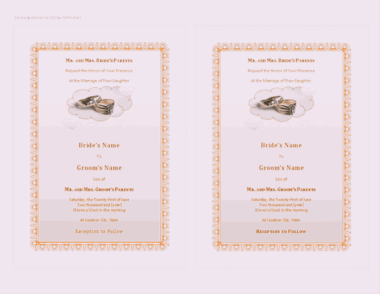 Download Purple-color Wedding Invitation (with Room For Photo)