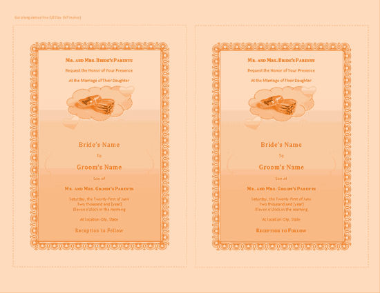 Download Yellow-color Wedding Invitation (with Room For Photo)